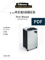 Fellowes Parts Manual 320