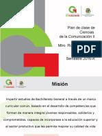 Plan de Clase Ciencias de La Comunicación II 2016 A