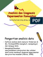 Analisa Dan Diagnosa Keperawatan Komunitas
