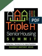 Triple a Senior Housing Summit Report 2015