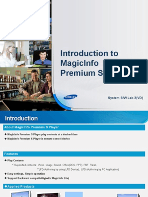 Samsung Magic Info Premium Introduccion | Computer Data