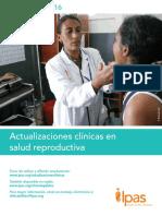 Actualizaciones Clínicas en Salud Reproductiva Enero 2016, Ipas