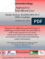 Gastroenterology Approach to GI Track Blood Loss