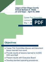 ULSDC 2008CF Lessoned Learned