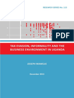 113 Tax Evasion, Informality and the Business Environment in Uganda