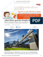 ¿Qué Datos Guarda Google de Ti
