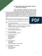Tips Para Evaluar y Seleccionar Libros Banco Del Libro