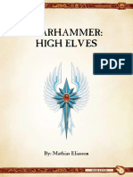 Ravening Hordes - High Elves 9th Ed