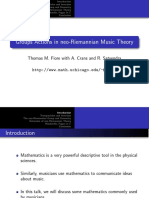Groups Actions in neo-Riemannian Music Theory