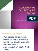 Conceptos de Salud, Salud Laboral y Salud Mental