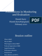 A Foundation Training in Monitoring and Evaluation