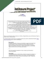 """Disclosure Project"" - Gobierno USA Destapa Tema UFO (OVNI)"