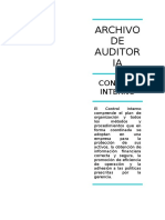 Archivo de Auditoria