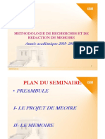 METHODe redaction memoire