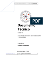 Indicadores Tecnicos de Mantenimiento y Operaciones