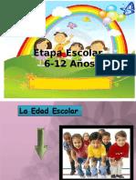 etapa escolar 6 a 12 años