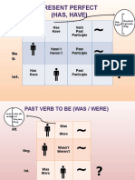 formulario present perfect and simple past tense