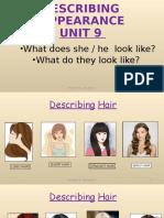 describing appearance 1