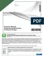 Solution Manual Engineering Mechanics Ferdinand Singer