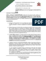 Caso Gian Carlo Vacchelli- JEE Lima Centro 1 abre procedimiento de exclusión a candidato de Fuerza Popular