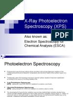 X-Ray Photoelectron Spectroscopy (XPS)
