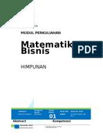 Modul Ajar Matematika BIsnis 1