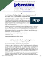 Acheronta 15 - Fetichismo_ Lo Simbólico, Lo Imaginario y Lo Real - Jacques Lacan y Wladimir Granoff