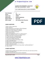 CS6403 Software Engineering