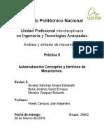 Analisis y sintesis de mecanimos