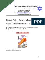Parasha No.24 Vaykra El Llamamiento