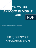 Animoto in Mobile App tutorial
