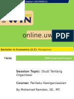 160130_UWIN MKB313 Sesi 1 Studi Tentang Organisasi