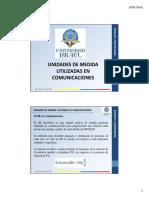 1.- Unidades de Medida Utilizadas en Comunicaciones