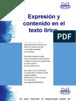 Expresión y Contenido en El Texto Lírico