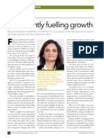 Confidently fueling growth (Private Debt Investor, March 2016)