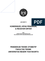 Job Sheet 5. Kondensor, Kipas Pendingin, Dan Receiver Dryer