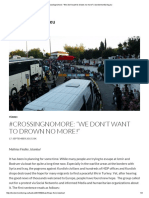 "#Crossingnomore_ ""We Don't Want to Drown No More!"" _ Bordermonitoring"