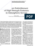 Hydrogen Embrittlement of High‐Strength Fasteners in Atmospheric Service