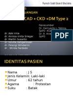 LAPORAN KASUS DOKTER JAGA RUANGAN RS GRAND MEDISTRA - CHF fc IV ec CAD + CKD stage IV + DM type 2