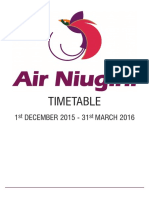 Air Niugini Schedule Dec - March 2016