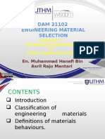 Week 3 Material Engineering and Their Characteristics