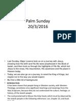 20-3-16 Palm Sunday