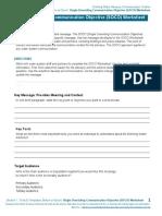 Single Overriding Comm Objective Worksheet
