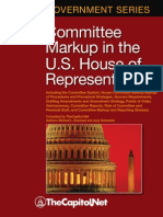 Committee Markup in the U.S. House of Representatives