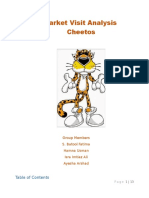 Cheetos Analysis