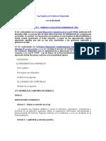 Ley Orgánica de Gobiernos Regionales