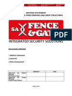 Method Statement for Fence Bridges and Drop Structures