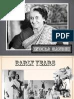 Presentation on Indira Gandhi