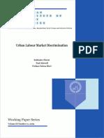Working Paper - Urban Labour & Caste