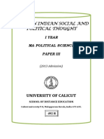 I Year MA Political Science -Paper III- Modern Indian Social and Political Thought